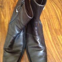 Tod's Brown Leather Women's Boots Size 11 Photo