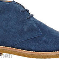Tod's Chukka Boots Size Us 10 M (Eu 9) Blue Suede Mens Ankle Desert Shoes Photo