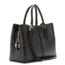 Tod's D-Cube Shopping Medium Leather Tote in Black  Photo