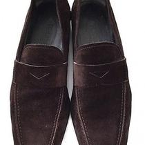 Tod's Dark Brown Suede Gommino Moccasin Loafers Slip on Drivers Dress Sz 9/10 Us Photo