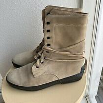 Tods Gommino Womenslace Up Ankle Boots Tan Suede Size 38.5 - 775 Photo