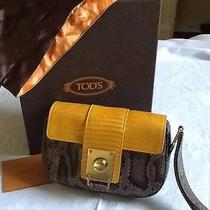 Tod's Handbag/ Clutch  -  Wrist Strap  -  Python  Lizard   - Limited Edition  Photo