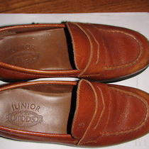 Tod's Junior Brown Leather Penny Loafers Dress Shoes 33 euro1.5 Us Boy or Girl  Photo