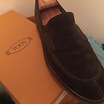 Tod's Jworkman Loafers (Chocolate Brown Suede) Gum Soles Photo