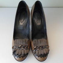 Tod's  Leather Heels Women's Size 38.5 Italian (8.5 Us) Photo