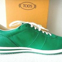 Tods Leather Sneakers (Nwb) Green Size 8  Photo