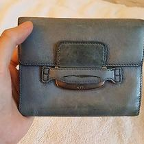 Tod's Leather Wallet in Tumbled Blue-Grey Leather Photo
