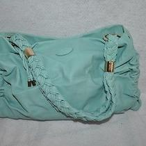 Tod's Light Blue Softy Braided Shoulder Strap Purse Mint 1500 Photo