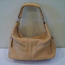 Tod's Mickey Hobo Handbag Purse Tan Leather Photo