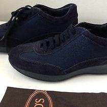 Tod's Navy Suede Lace Up Shoes/ Athletic - Size 5.5 M - Nwb Photo