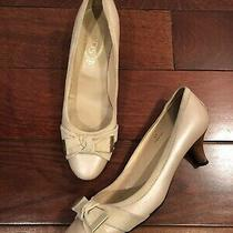 Tods Nude Leather Pumps Size 41 Photo
