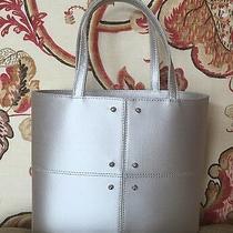 Tod's Silver Silk Satin Small Dress Bucket Handbag Purse With Crystal Studs Photo
