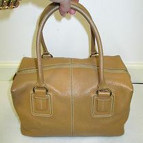 Tod's Square Textured Leather Satchel/shoulder Bag W/ Removable Strap Photo