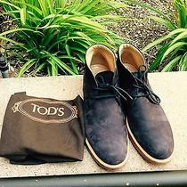 Tod's Suede Desert Boots Blue Us Shoe Size (Men's) 8.5 (7.5uk)- Like New Photo