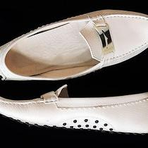 Tod's Tods Off White Leather Moccasin 10 Photo
