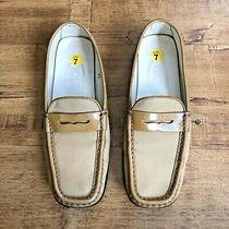 Tods Tods Womens Yellow Leather Driving Loafers Flats Shoes Size 37 Us 7 Photo