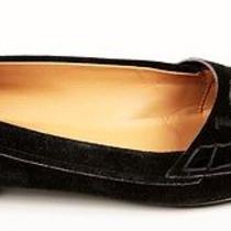 Tod's Women's Black Suede Leather Flats Oxford Shoes Vguc Sz 8.5 Photo