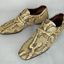 Tod's Women's Shoes 9.5 Us Genuine Python Snake Skin Loafers Sneakers Made Italy Photo