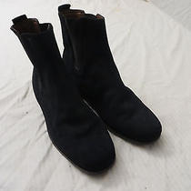 Tod's  Womens  Suede Leather  Fashion Ankle  Boots 39.5 Navy  Blue    Photo
