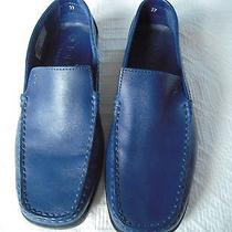Todd True Blue Leather Driving Loafer 37 Tremolo Navy Photo