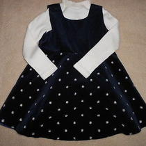 Toddler Baby Girl Holiday Winter Jumper Set Baby Gap Navy Velvet Dress18 24 M Photo