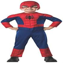 Toddler Baby Rubies Marvel Ultimate Spider-Man Costume One Color Superhero New  Photo