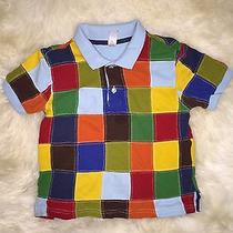 Toddler Boy Baby Gap Patched Multicolor Polo Shirt Top Sz 4 Photo