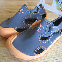 Toddler Boy Op Charcoal Gray Neon Orange Water Aqua Shoes Nwt 9 10 Photo