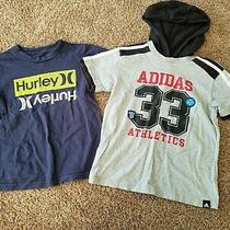 Toddler Boy Shirts Size 5 Hurley Short Sleeve Shirt  Adidas Hooded Shirt Photo