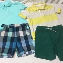 Toddler Boys Baby Gap Shorts 3t & Baby Gap & Jumping Bean Polo Tops 4t Photo