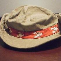 Toddler Boys Carter's Brand Beige Bucket Hat  W/red Lobster Band 12-24 Mos. New Photo