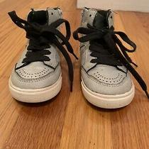 Toddler Boys Gap Silver Zip Up High Top Sneakers Size 7 Us Photo