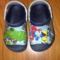 Toddler Boys Marvel Super Hero Squad Crocs Size 8-9 Cute Waterproof Comfortable Photo