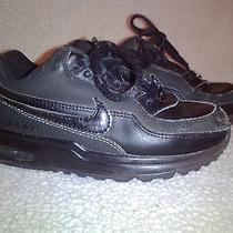Toddler Boys Nike Air Max Athletic Black Sneakers Size 9 C W/ Laces (313051-015) Photo