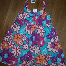 Toddler Girl m&co Kids Aqua Floral Sun Dress Size 1.5-2 Years Nwt Photo