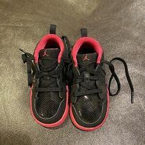 Toddler Girl Nike Jordans Sneakers Black and Pink Size 7 Euc Photo