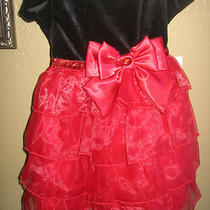 Toddler Girl's Fancy Dress Red & Black - Brand New Photo