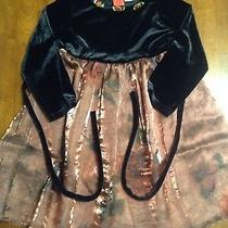 Toddler Girl's Holiday Dress Size 3t Black/rose Gold Photo