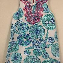 Toddler Girl's Lilly Pulitzer for Target Sea Urchin Starfish Dress Size 3t Blue Photo
