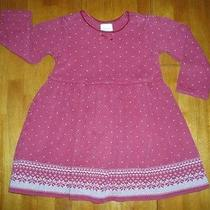 Toddler Girl's Ls Red Knit Baby Doll Style Dress  Size 30-36 Months Ln Photo