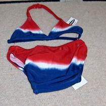Toddler  Girls Size ( 6-12 Mos.. ) Old Navy Redwhite and Blue Swimsuit Nwt Photo