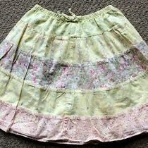 Toddler Girl Skirt Size 3/3t Baby Gap Floral Yellow  Photo