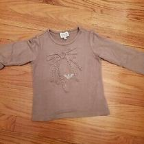 Toddler Girls Armani Tshirt Top Beige Taupe Sz 2 Authentic  Photo