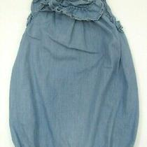Toddler Girls Baby Gap 1969 Blue Denim Ruffle Bubble Outfit Size 12-18 Months Photo