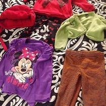 Toddler Girls Lot Minnie Mouse Gap Candy Hearts Carter's 3 Tops 2 Pants  2t Photo