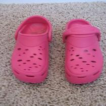 Toddler Girls Pink Slip on Rubber Clog Shoe - Size 8  - Like Crocs - New Photo