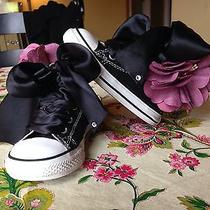 Toddler Girls Size 5 Custome Flower Converse  Photo