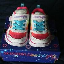 Toddler Sneakers Size 5 From Sketchers Worn 3 Times Light -Ups Photo