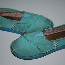  Toddler Toms Aqua Blue Tiny Toms Canvas Classics Shoes Slip-on Sz T 11 Photo