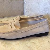 Tods Beige Suede Loafers  Photo
